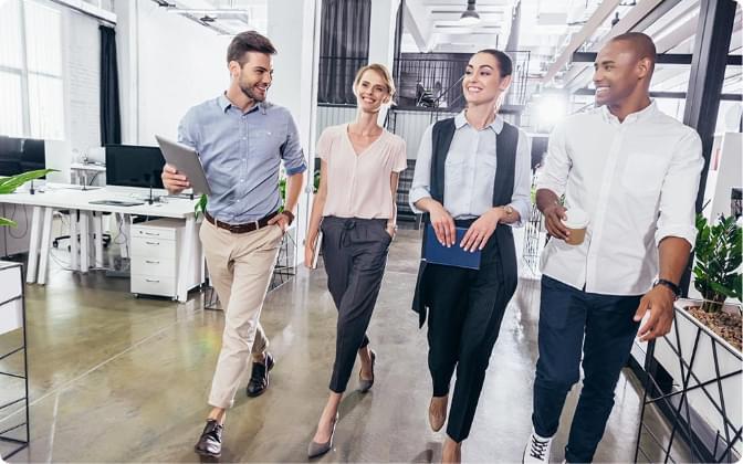 Office Staff Walking